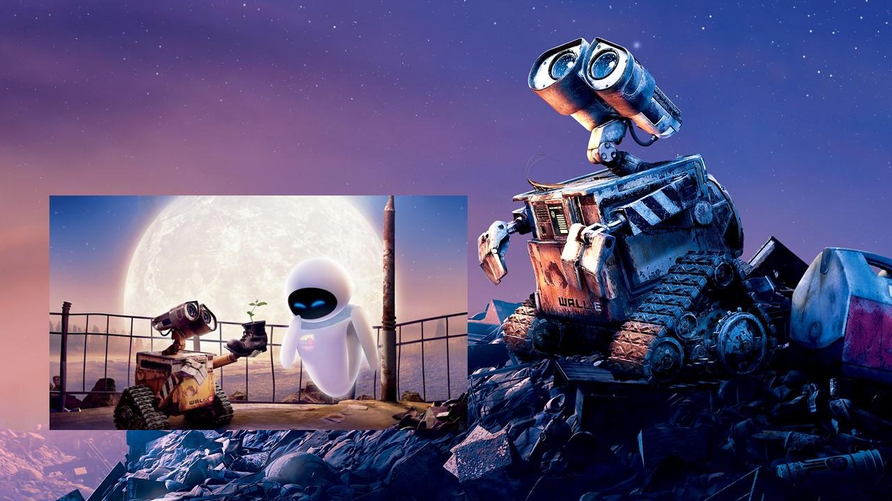 2008 WALL-E e EVA, Robôs podem amar.