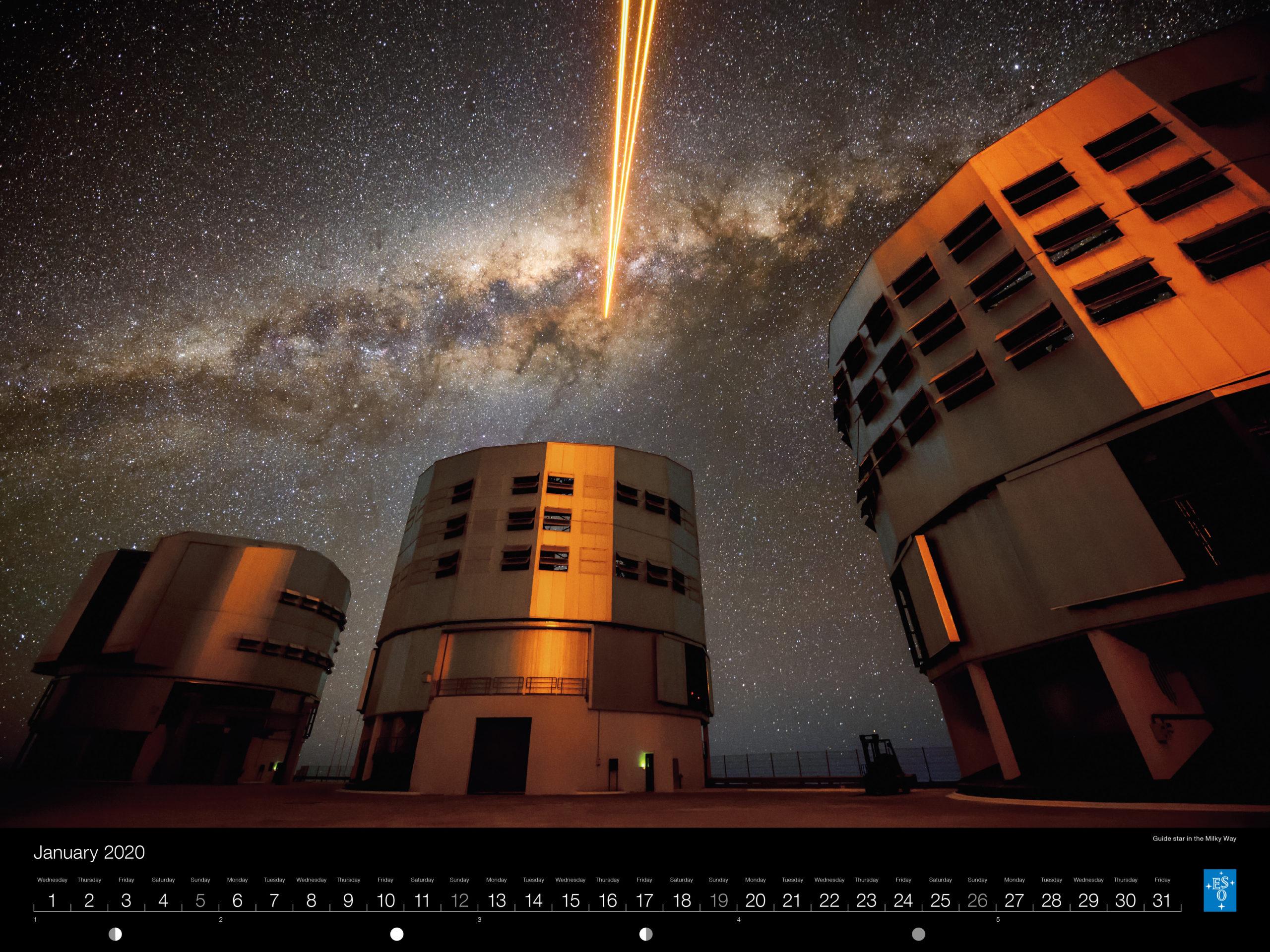 Calendário ESO 2020: Janeiro.