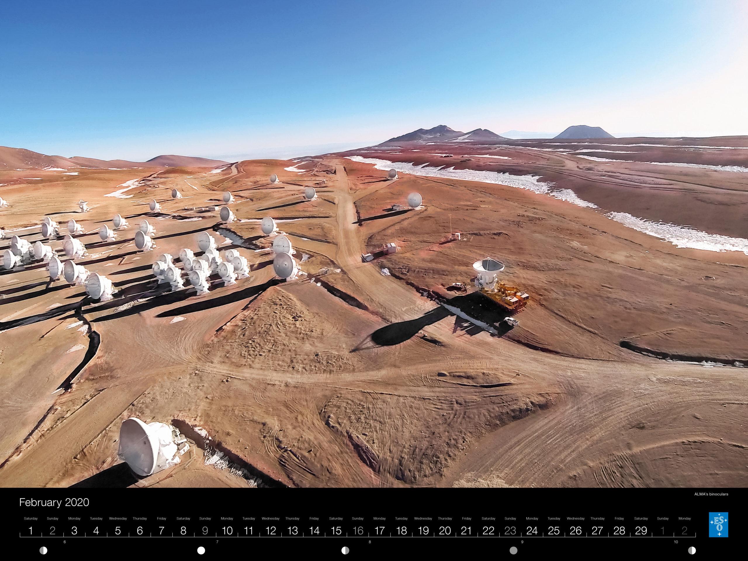Calendário ESO 2020: Fevereiro,
