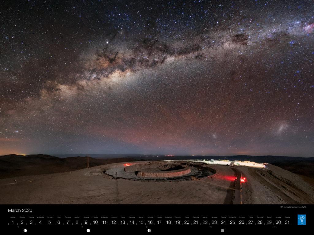 Calendário ESO 2020: Março.