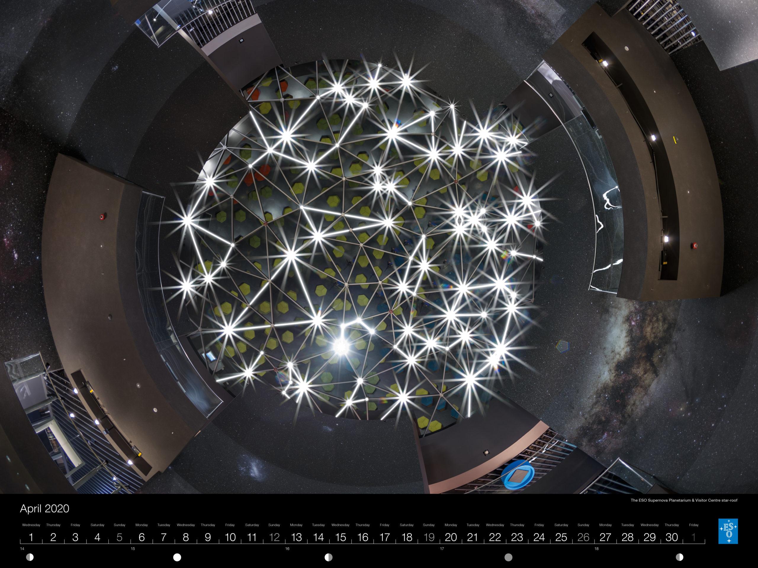 Calendário ESO2020: Abril.