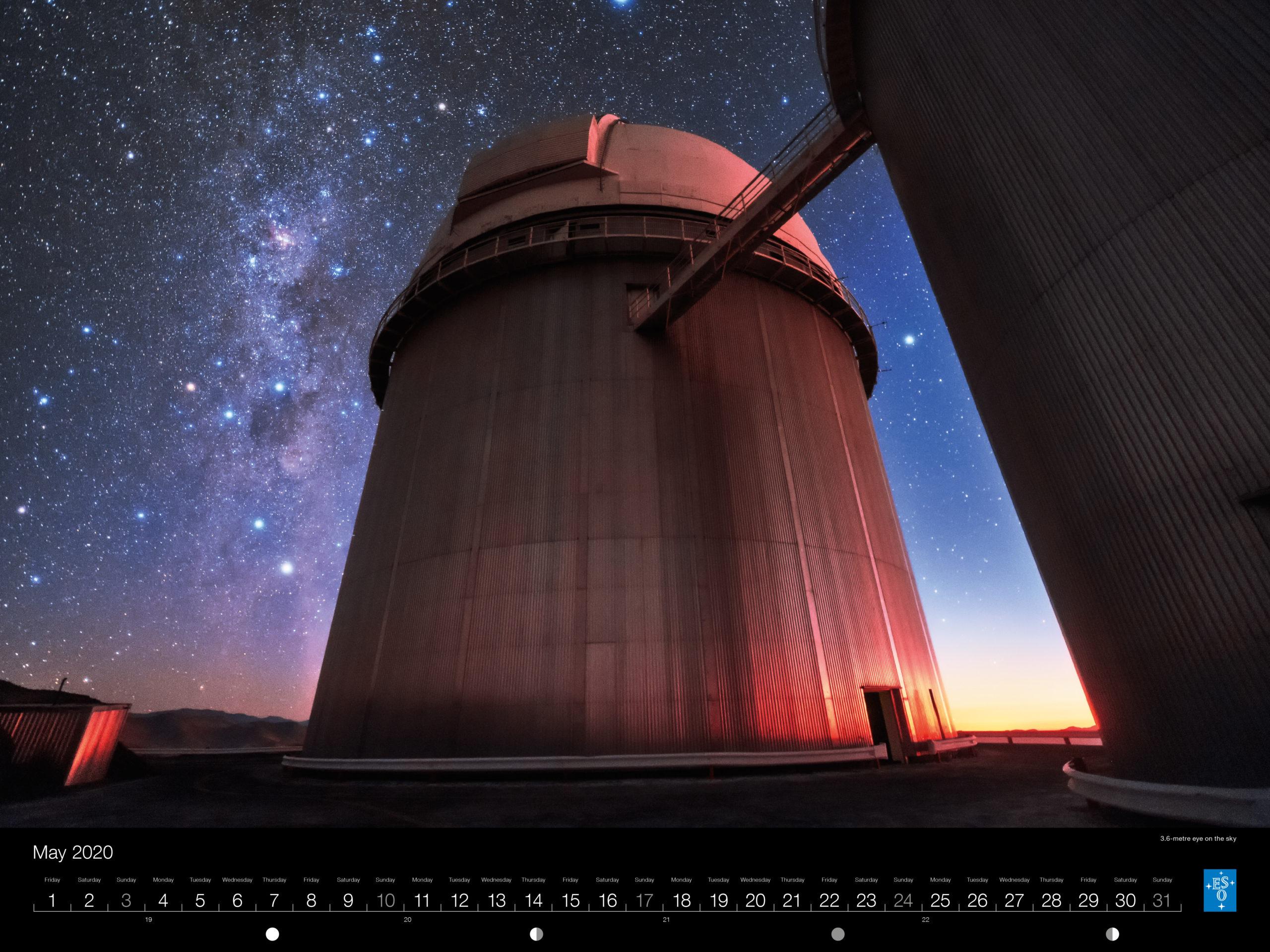 Calendário ESO 2020: Maio.