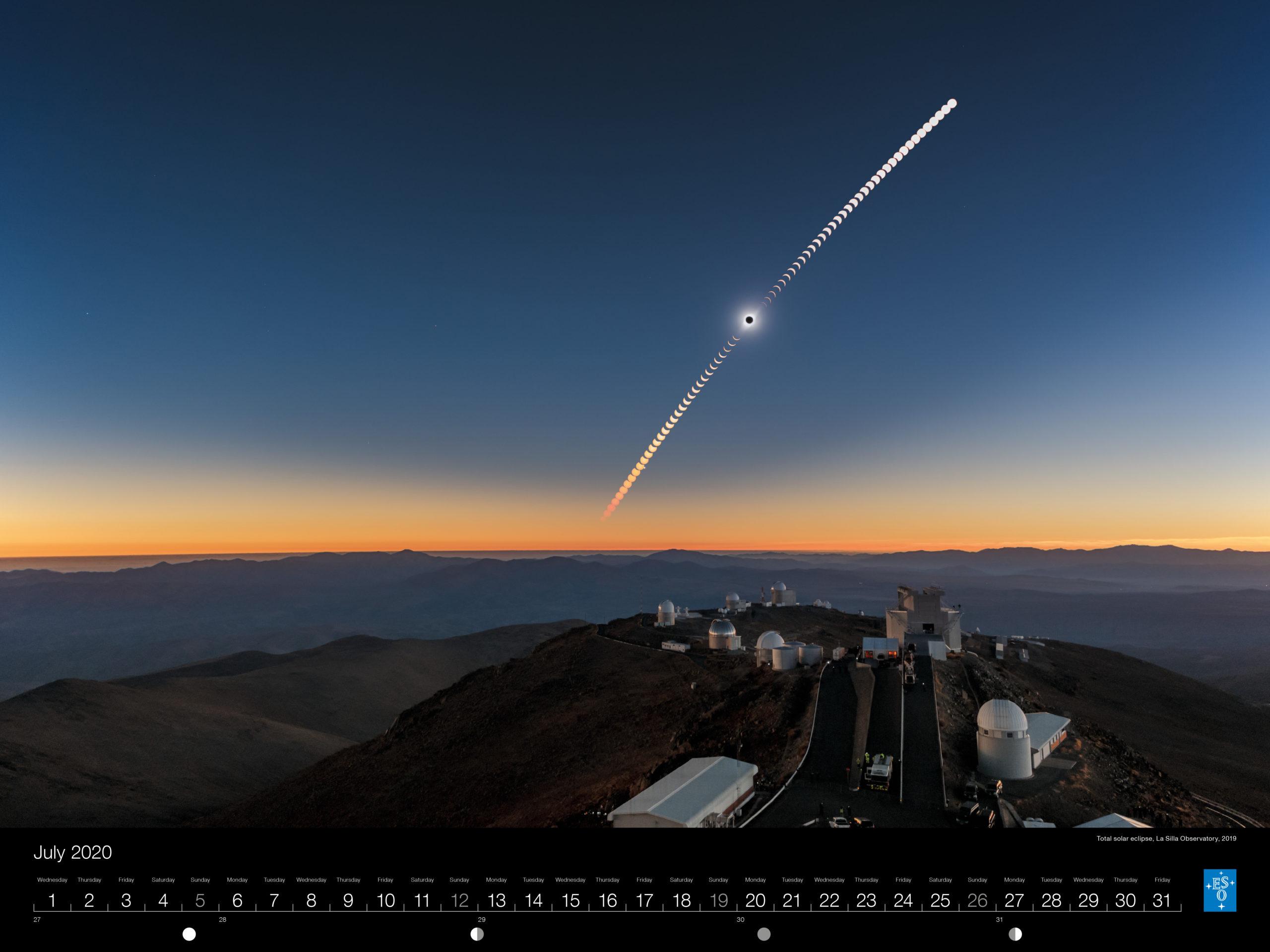 Calendário ESO 2020 Julho
