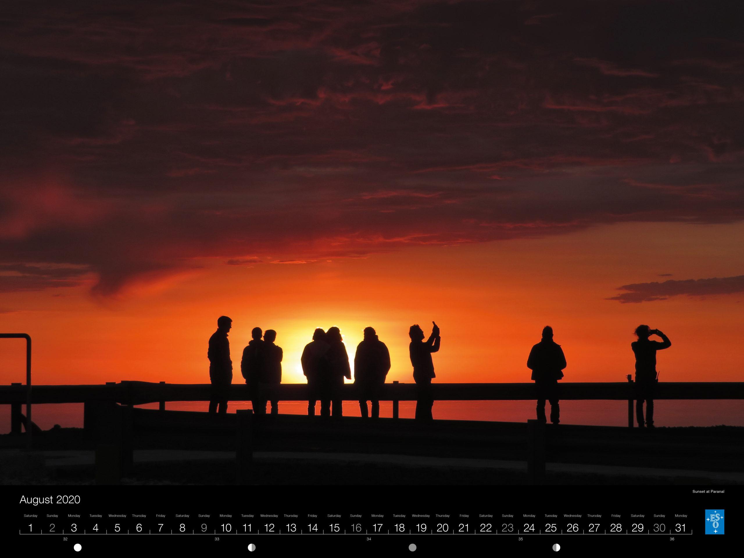 Calendário ESO 2020: Agosto