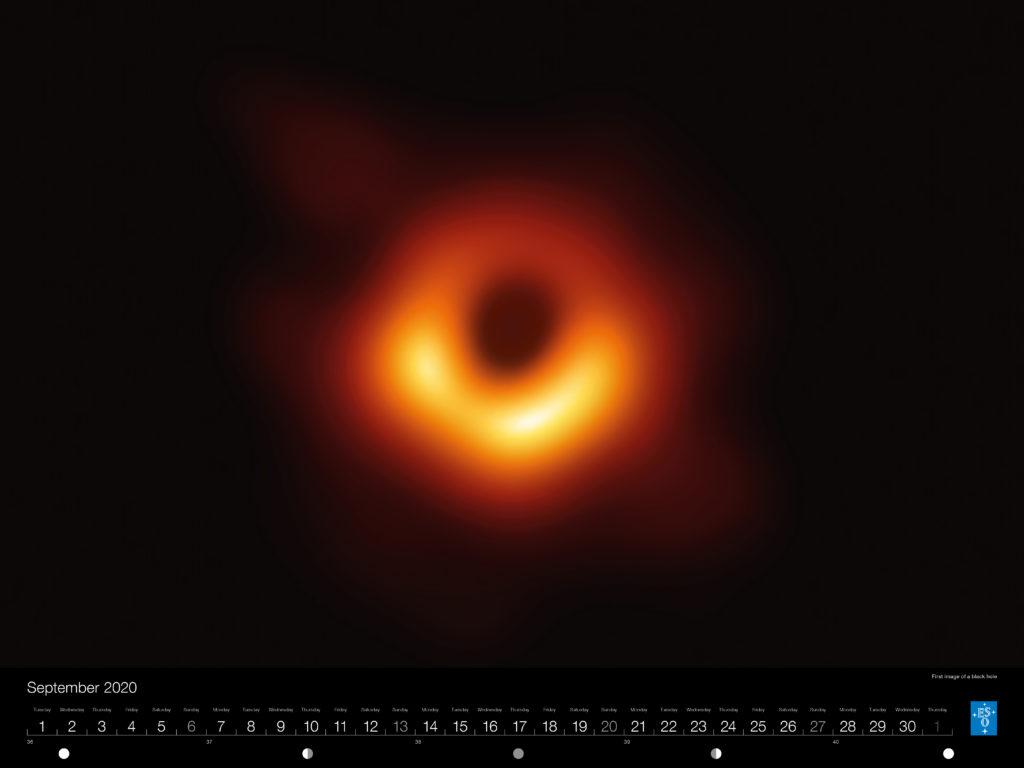 Calendário ESO 2020: Setembro.