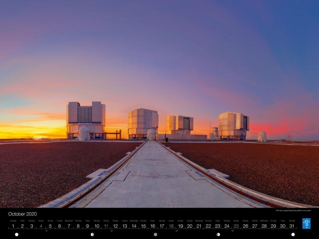 Calendário ESO 2020: Outubro