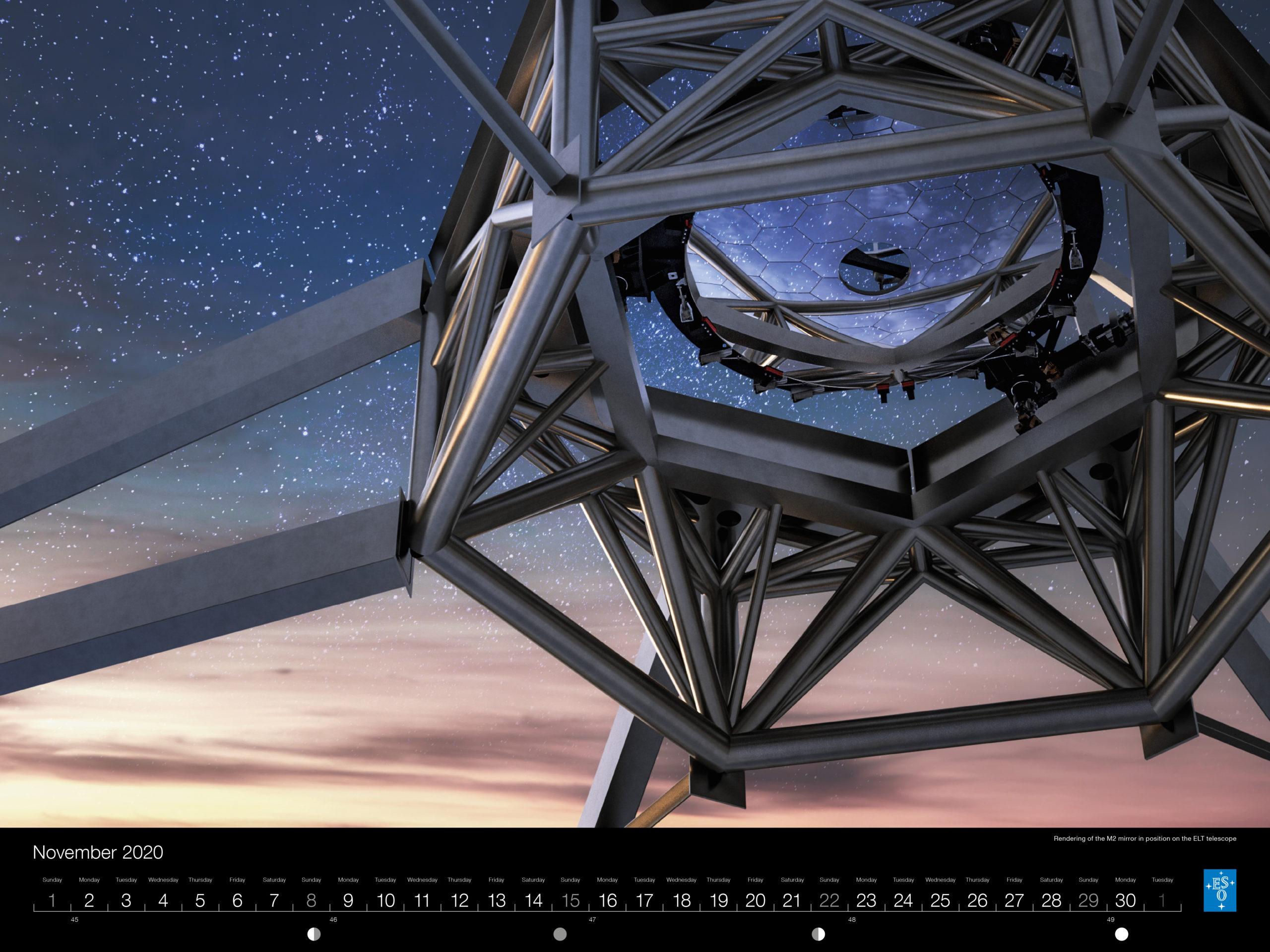 Calendário ESO 2020: Novembro