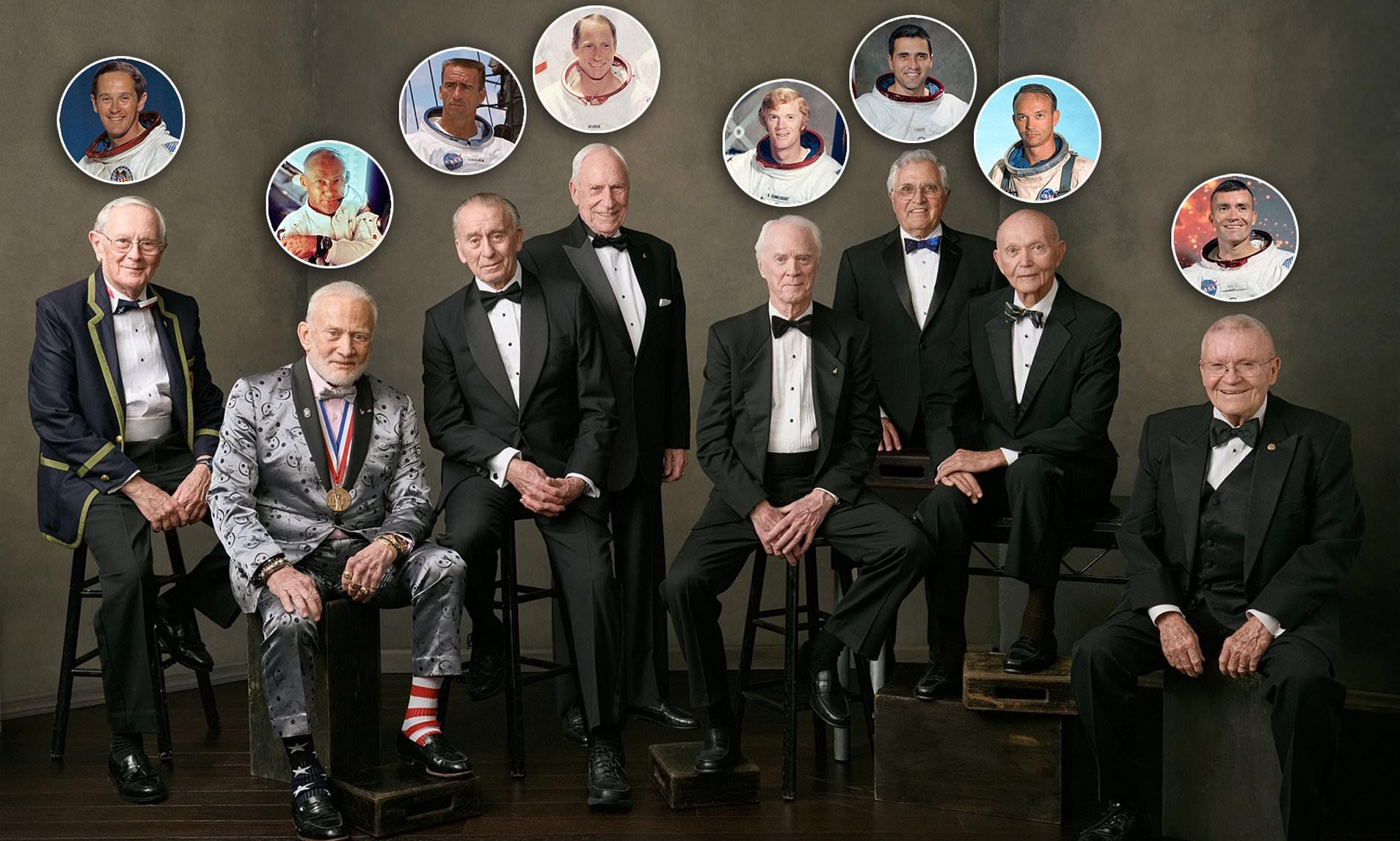 Astronautas comemoram 50 anos da Apollo 11.