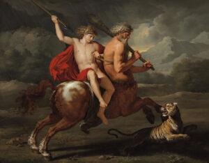 A Educação de Aquiles, Bénigne Gagneraux, 1785.