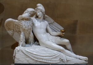 Ganimedes e a Águia, Adamo Tadolini, 1823.
