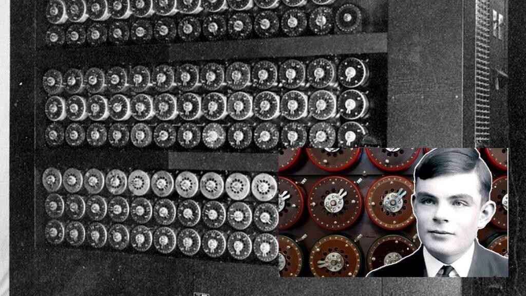 1940: Alan Turing. Sistema decifra código nazista ENIGMA