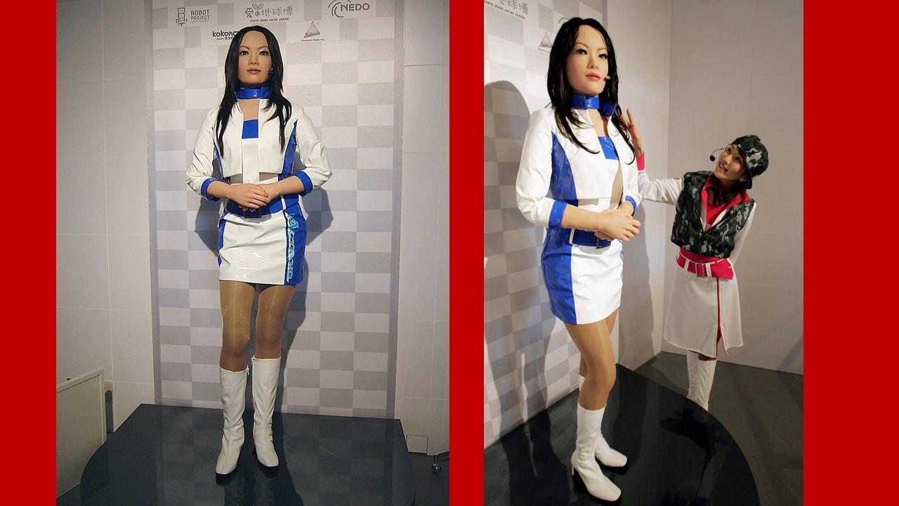 2005. Expo Aichi, actroide REPLIEE Q1.