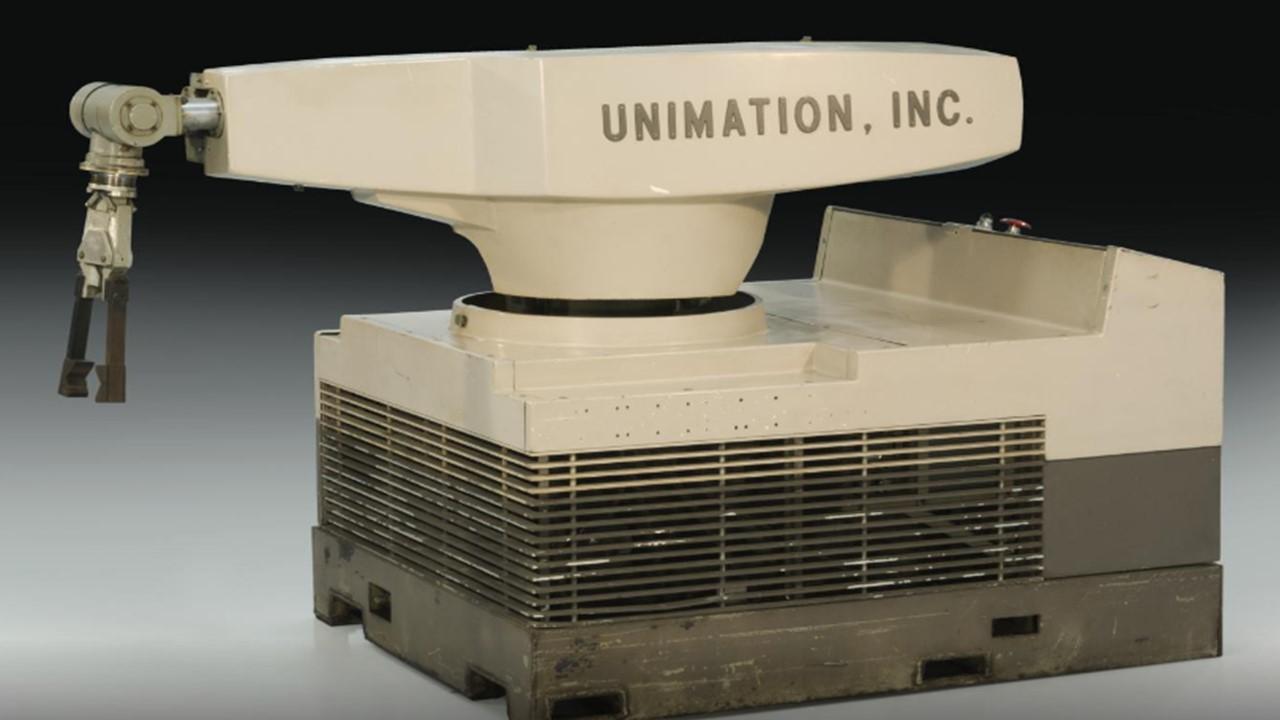 1961 Unimate Robô Industrial, General Motors.