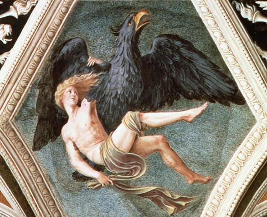 Rapto de Ganimedes, Baldassare Peruzzi, c.1509