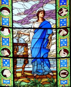 Urânia, vitral do Museu de Astronomia e ciências afins.