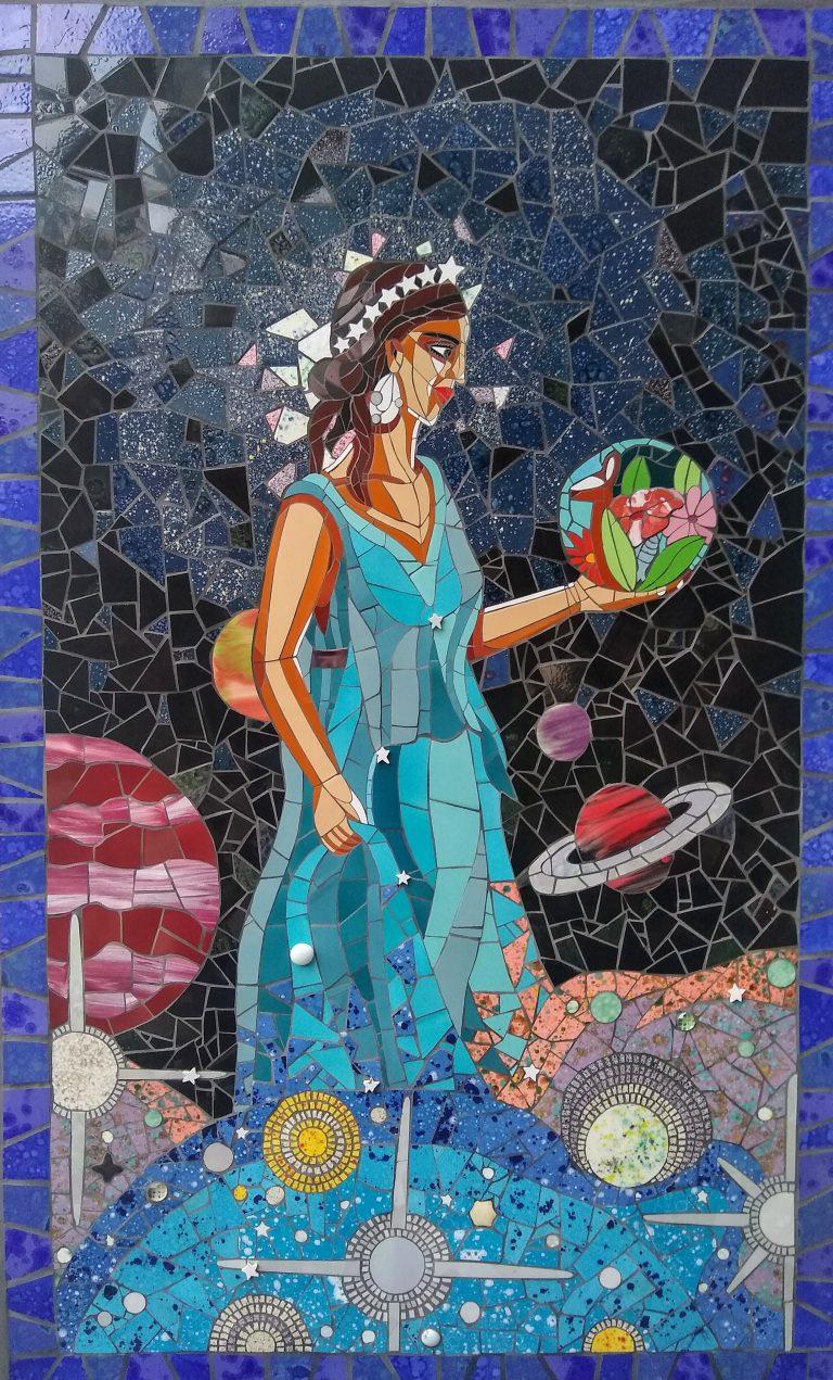 Urânia, mosaico.