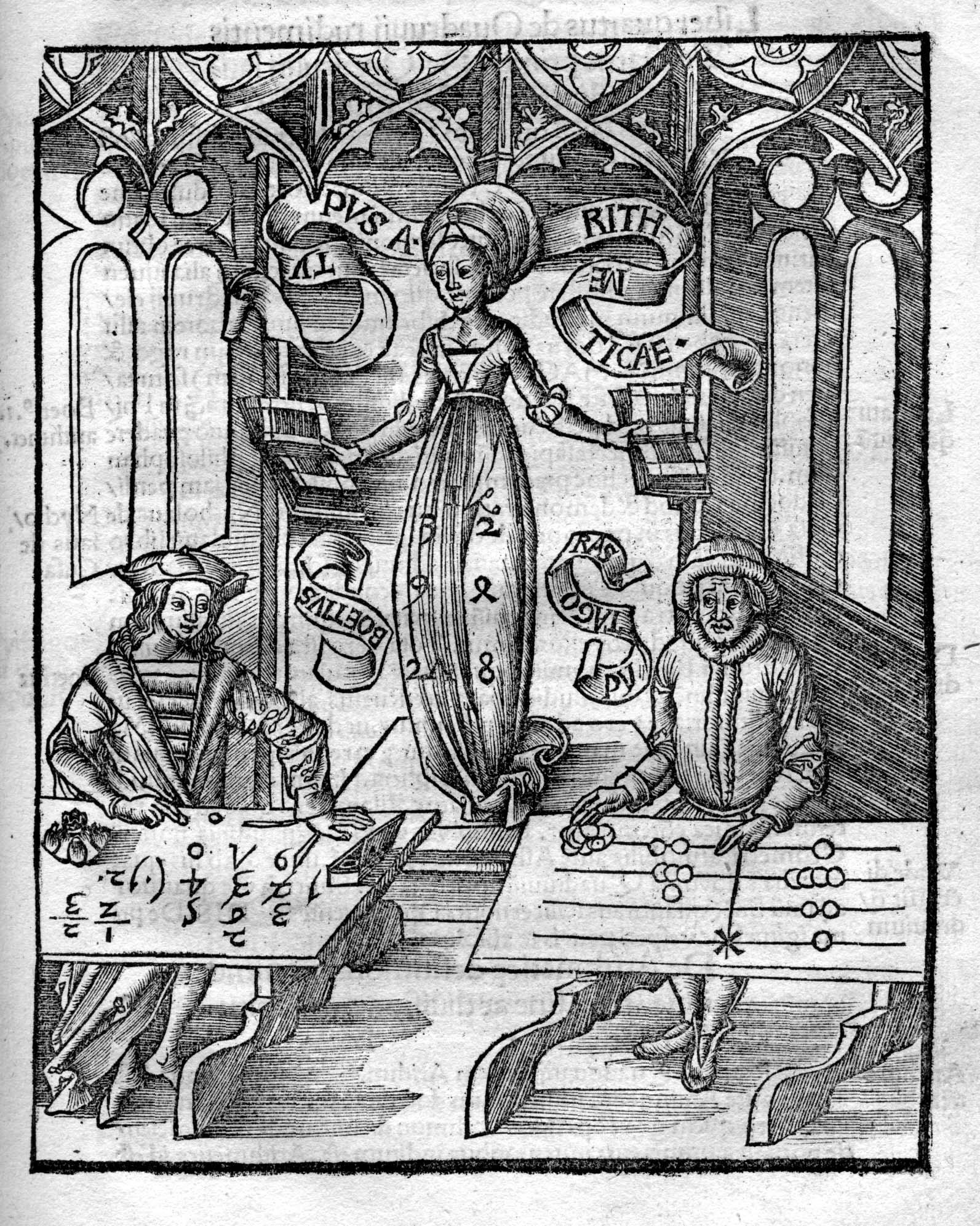 Margarita philosophica, Aritmética, Gregor Reisch, 1504.