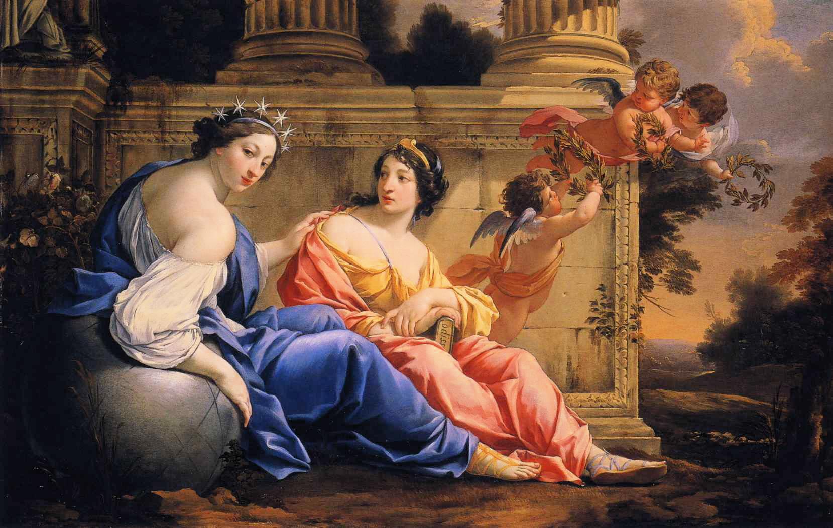 As Musas Urania e Calíope, Simon Vouet, 1634.