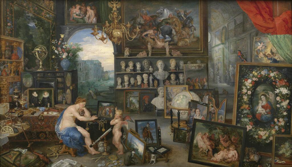 Alegoria da Mirada (Visão), Jan-Brueghel e Peter-Paul-Rubens