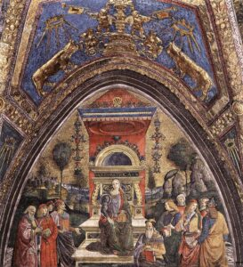 A Aritmética, Pinturicchio (Bernardino di Betto), 1491.