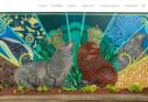 Mural com mamíferos marinhos da Nova Zelândia pintados